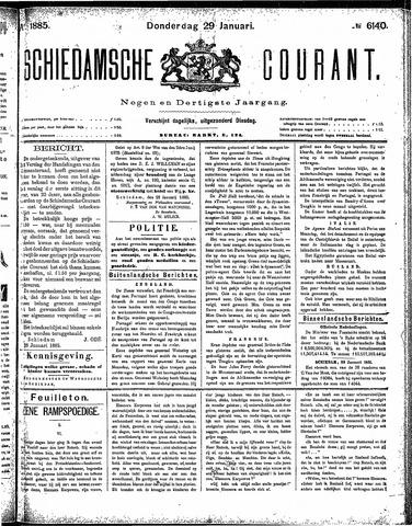 Schiedamsche Courant 1885-01-29