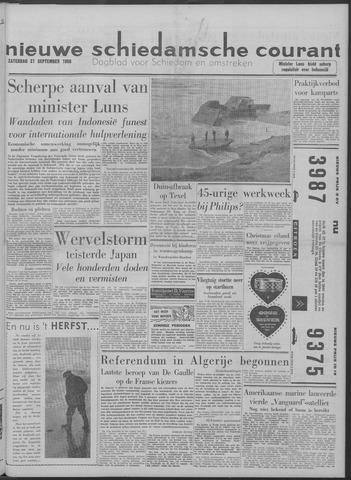Nieuwe Schiedamsche Courant 1958-09-27