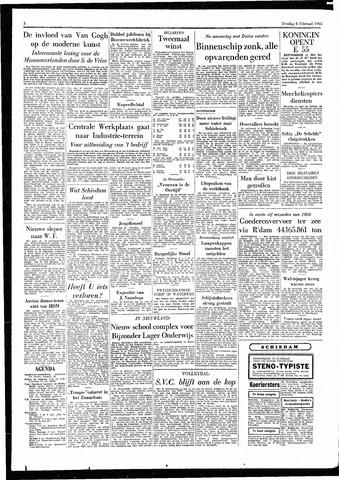 Rotterdamsch Parool / De Schiedammer 1955-02-08