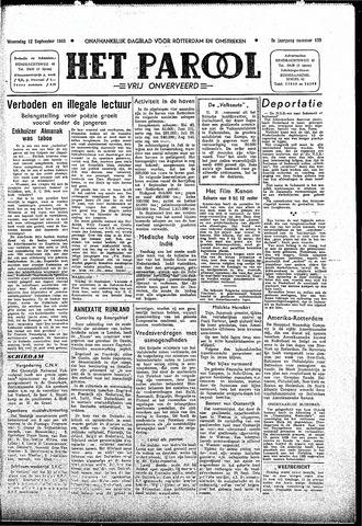 Rotterdamsch Parool / De Schiedammer 1945-09-12