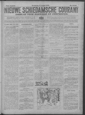 Nieuwe Schiedamsche Courant 1929-01-31