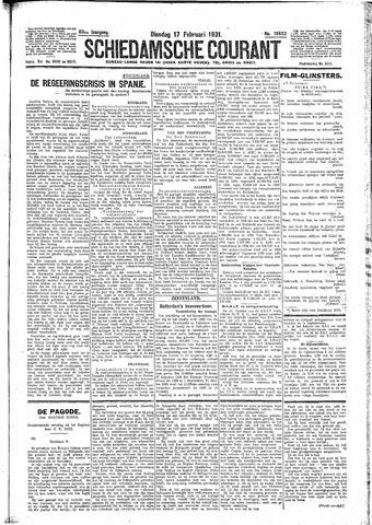 Schiedamsche Courant 1931-02-17