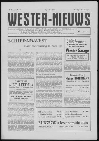 Wester Nieuws 1960-09-01