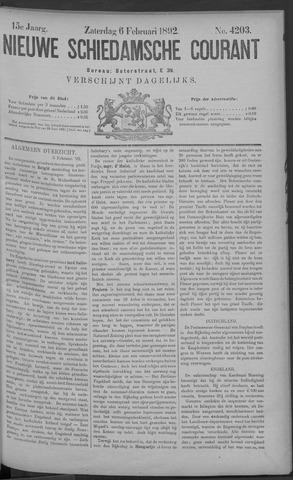 Nieuwe Schiedamsche Courant 1892-02-06