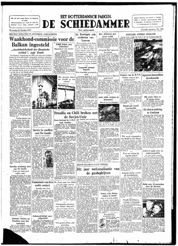 Rotterdamsch Parool / De Schiedammer 1947-10-22