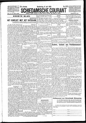 Schiedamsche Courant 1931-07-09