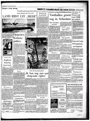 Rotterdamsch Parool / De Schiedammer 1963-08-08