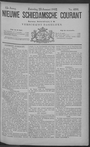 Nieuwe Schiedamsche Courant 1892-01-23