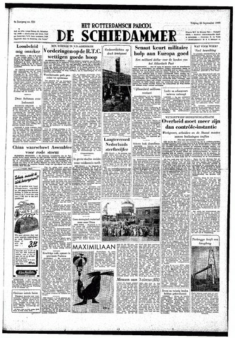 Rotterdamsch Parool / De Schiedammer 1949-09-23