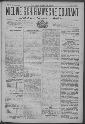 Nieuwe Schiedamsche Courant 1909-02-10