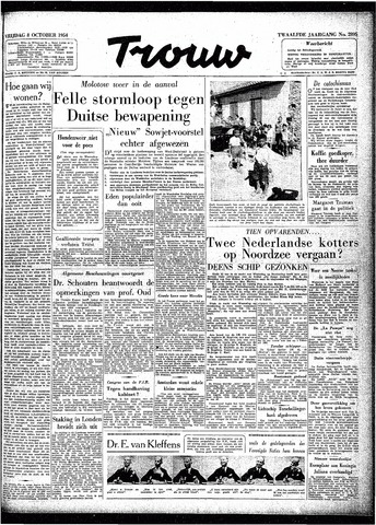 Trouw / De Rotterdammer 1954-10-08