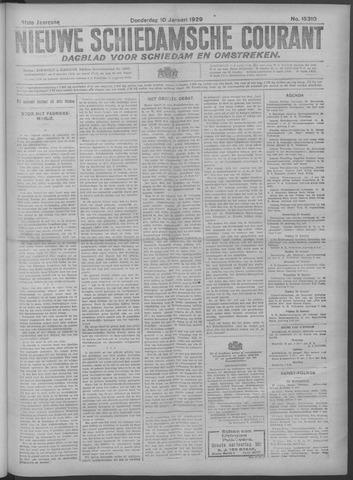 Nieuwe Schiedamsche Courant 1929-01-10