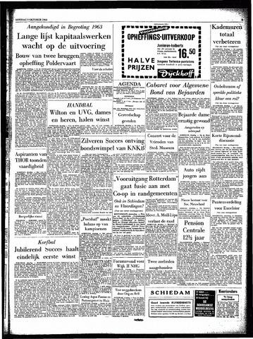 Rotterdamsch Parool / De Schiedammer 1962-10-09