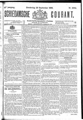 Schiedamsche Courant 1898-09-29