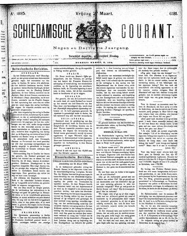 Schiedamsche Courant 1885-03-27