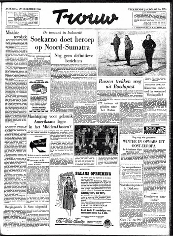 Trouw / De Rotterdammer 1956-12-29