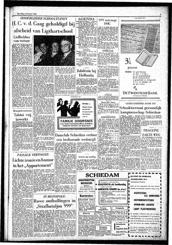 Rotterdamsch Parool / De Schiedammer 1961-02-04