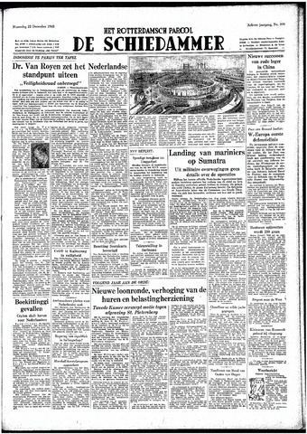 Rotterdamsch Parool / De Schiedammer 1948-12-22
