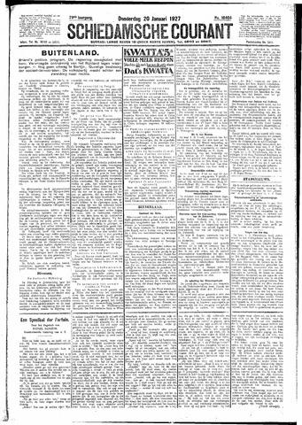 Schiedamsche Courant 1927-01-20