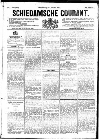 Schiedamsche Courant 1912-01-04