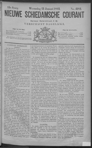 Nieuwe Schiedamsche Courant 1892-01-13