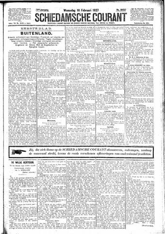 Schiedamsche Courant 1927-02-16
