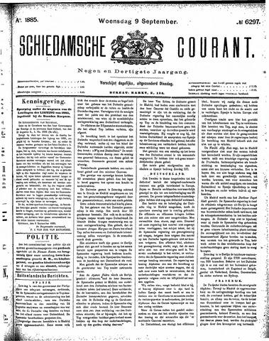 Schiedamsche Courant 1885-09-09