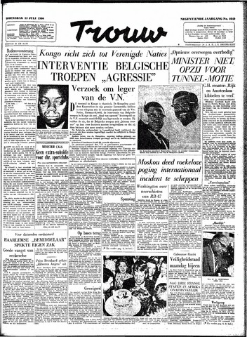 Trouw / De Rotterdammer 1960-07-13