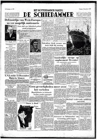 Rotterdamsch Parool / De Schiedammer 1949-12-02
