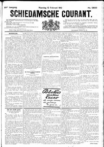 Schiedamsche Courant 1912-02-12