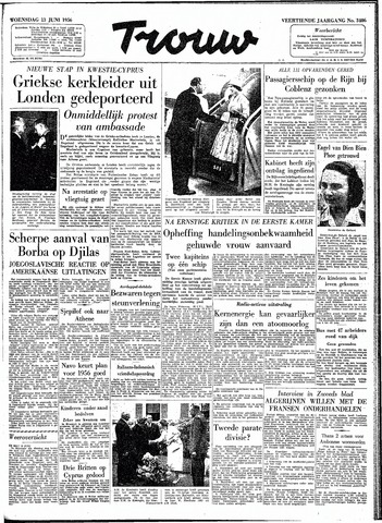 Trouw / De Rotterdammer 1956-06-13