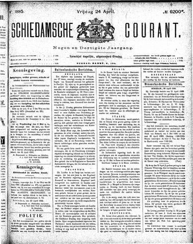Schiedamsche Courant 1885-04-24