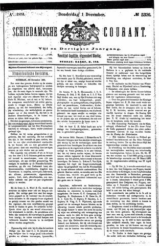 Schiedamsche Courant 1881-12-01