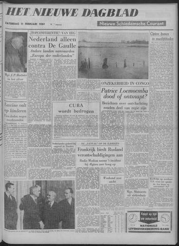 Nieuwe Schiedamsche Courant 1961-02-11