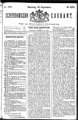 Schiedamsche Courant 1881-09-26