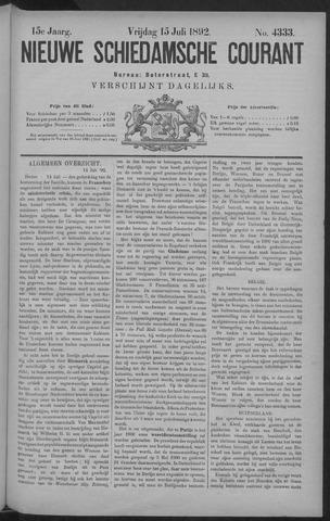 Nieuwe Schiedamsche Courant 1892-07-15