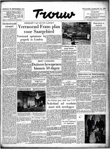 Trouw / De Rotterdammer 1954-09-28