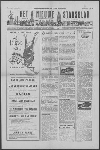 Het Nieuwe Stadsblad 1958-08-13