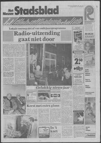 Het Nieuwe Stadsblad 1985-12-27