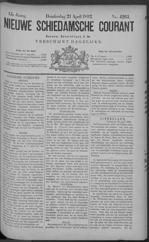 Nieuwe Schiedamsche Courant 1892-04-21