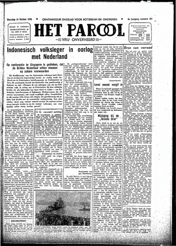 Rotterdamsch Parool / De Schiedammer 1945-10-15
