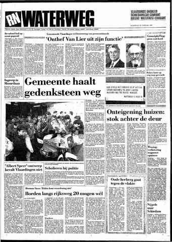Rotterdamsch Nieuwsblad / Schiedamsche Courant / Rotterdams Dagblad / Waterweg / Algemeen Dagblad 1987-02-25