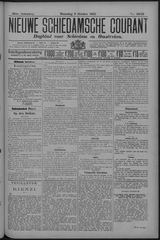 Nieuwe Schiedamsche Courant 1913-10-06