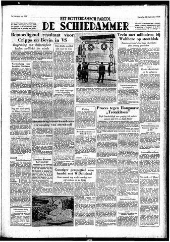 Rotterdamsch Parool / De Schiedammer 1949-09-12
