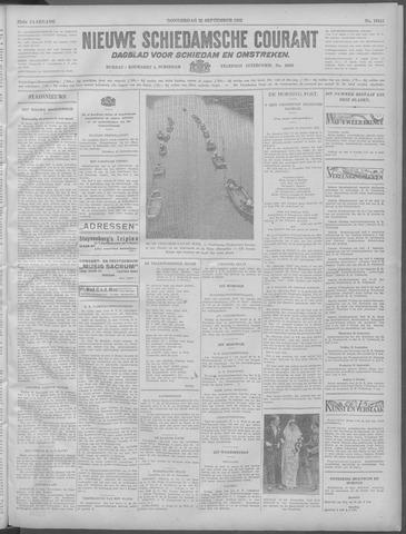 Nieuwe Schiedamsche Courant 1932-09-22