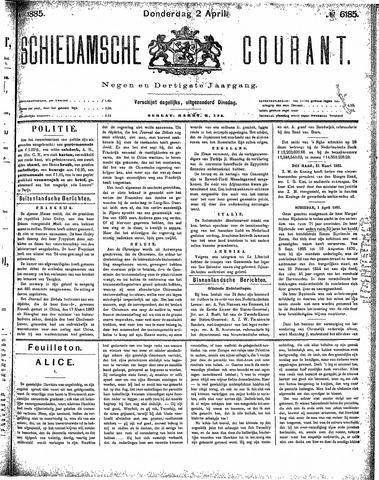Schiedamsche Courant 1885-04-02