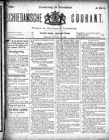 Schiedamsche Courant 1885-12-24