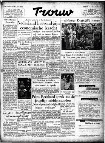 Trouw / De Rotterdammer 1953-03-18