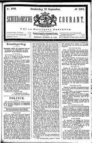 Schiedamsche Courant 1881-09-22