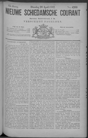 Nieuwe Schiedamsche Courant 1892-04-26
